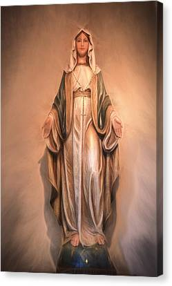 Blessed Virgin Mary Canvas Print by Donna Kennedy