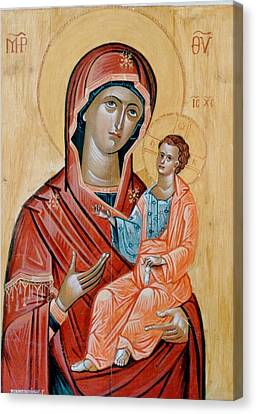 blessed Virgin Mary Canvas Print by George Siaba