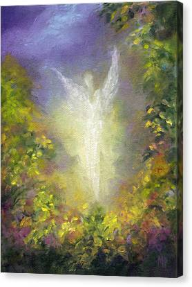 Canvas Print featuring the painting Blessing Angel by Marina Petro