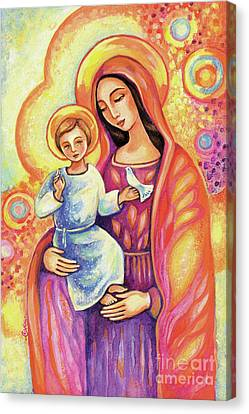 Canvas Print featuring the painting Blessing Of The Light by Eva Campbell