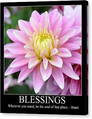 Blessings Dahlia Canvas Print by P S