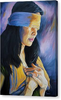 Blind Love Canvas Print