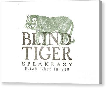 Blind Tiger Speakeasy Tee Canvas Print by Edward Fielding