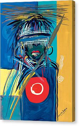 Blind To Culture Canvas Print by Oglafa Ebitari Perrin