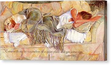Bliss With Bible Verse Canvas Print by Susan Hensel