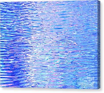 Blissful Blue Ocean Canvas Print