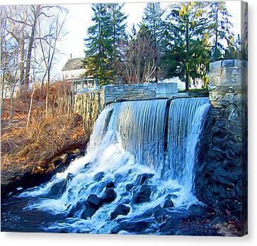 Blissville Falls Canvas Print by Sue  Brehant