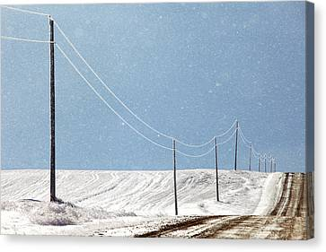 Winter Roads Canvas Print - Blizzard Blue by Todd Klassy