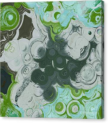 Canvas Print featuring the digital art Blobs - 13c9b by Variance Collections