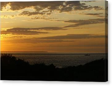 Block Island From Montauk Point Canvas Print by Christopher Kirby