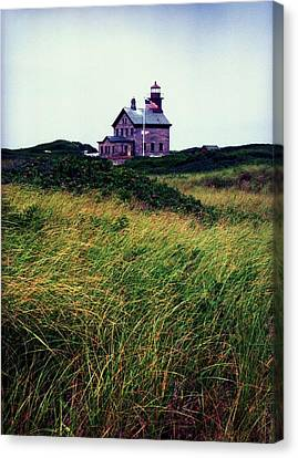 Block Island Light-house Canvas Print by John Scates
