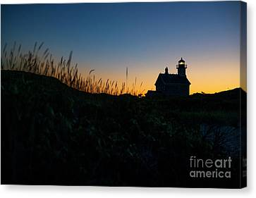 New England Lighthouse Canvas Print - Block Island North Light by Diane Diederich