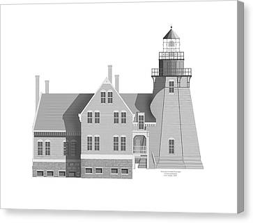Block Island South East Rhode Island Canvas Print by Anne Norskog