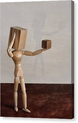 Canvas Print featuring the photograph Blockhead by Mark Fuller