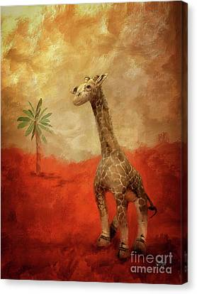 Canvas Print featuring the digital art Block's Great Adventure by Lois Bryan