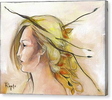 Blonde Autumn Left Canvas Print by Jacque Hudson