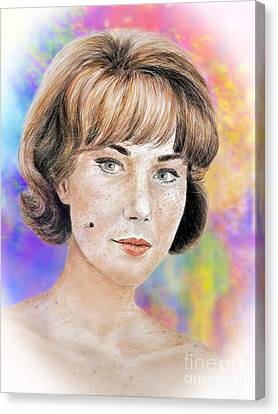 Blonde Beauty With Bangs II Canvas Print