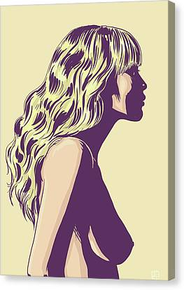 Woman Canvas Print - Blonde by Giuseppe Cristiano