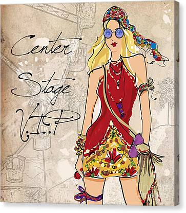 Blonde Canvas Print - Blonde Glasses by Jodi Pedri