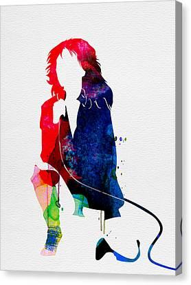 Blondie Watercolor Canvas Print by Naxart Studio