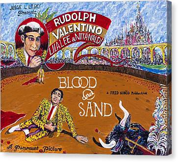 Blood And Sand - 1922 Lobby Card That Never Was Canvas Print