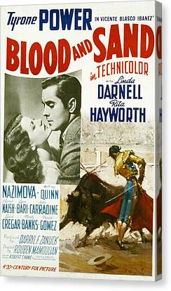 Blood And Sand, Rita Hayworth, Tyrone Canvas Print by Everett