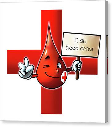 Blood Donor Canvas Print by Petar Lazarov