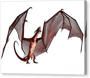 Blood Dragon Scream Canvas Print
