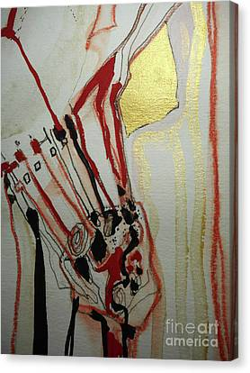 Blood Flowers Canvas Print by Katerina Stamatelos