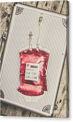 Blood Infusion Medical Kit Canvas Print