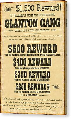 Blood Meridian Wanted Poster Canvas Print