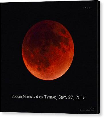 Blood Moon #4 Of Tetrad, Without Location Label Canvas Print by Brian Tada