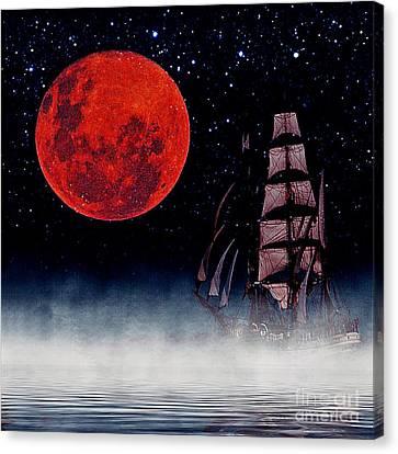 Blood Moon Canvas Print by Blair Stuart