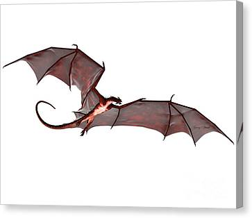 Blood Red Dragon Canvas Print