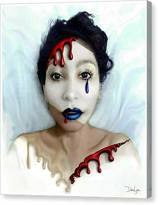 Blood Sweat Tears Faced Canvas Print