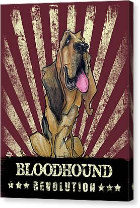 Canvas Print - Bloodhound Revolution by John LaFree