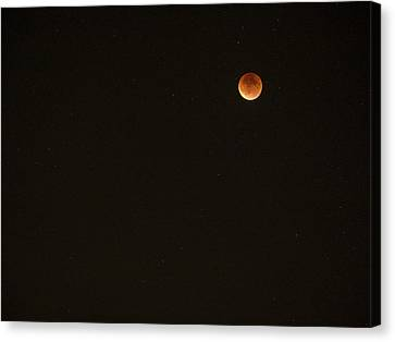 Bloodmoon - Sept 27 - Madison - Wisconsin Canvas Print by Steven Ralser