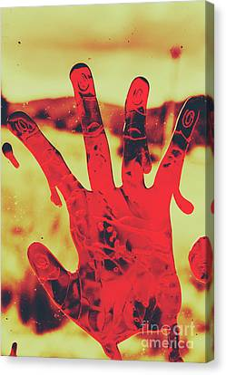 Bloody Halloween Palm Print Canvas Print by Jorgo Photography - Wall Art Gallery