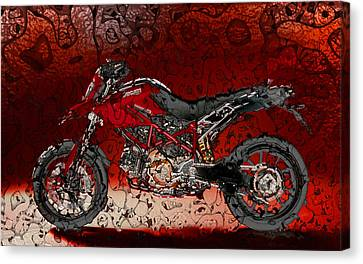 Bloody Italian Beauty Canvas Print by Radoslaw Kowzan