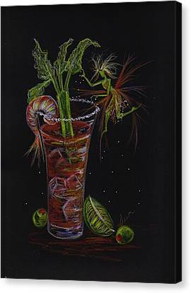 Canvas Print featuring the drawing Bloody Mary by Dawn Fairies