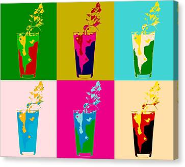 Bloody Mary Pop Art Panels Canvas Print by Dan Sproul