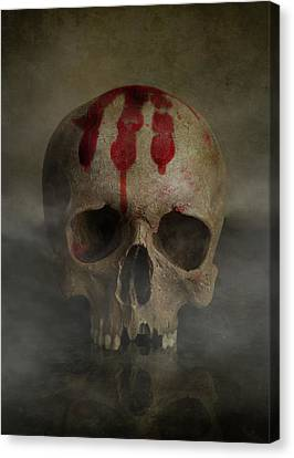 Missing Teeth Canvas Print - Bloody Palm Mark by Jaroslaw Blaminsky