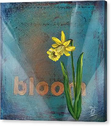 Bloom Daffodil Canvas Print by Andrea LaHue