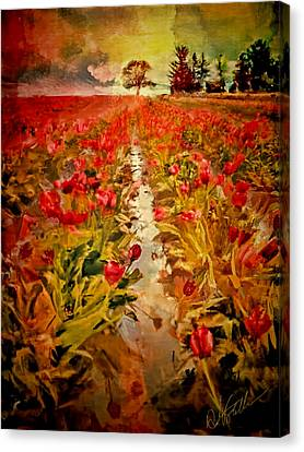 Bloomin Tulips Canvas Print by Dale Stillman