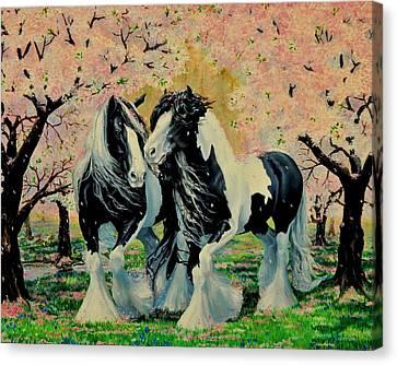 Blooming Gypsies Canvas Print