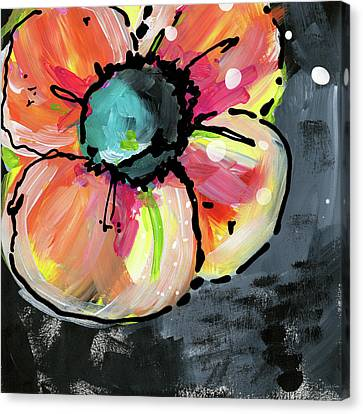 Canvas Print featuring the mixed media Blooming Wildflower- Art By Linda Woods by Linda Woods