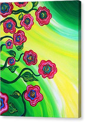 Blooms Canvas Print by Brenda Higginson