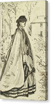 Blooms Fairer Than The Rose Canvas Print by John Everett Millais