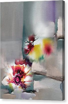 Blooms R Canvas Print by Anil Nene