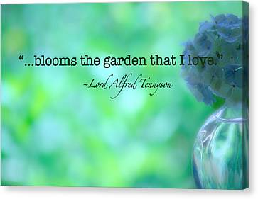 Blooms The Garden Canvas Print by Bonnie Bruno